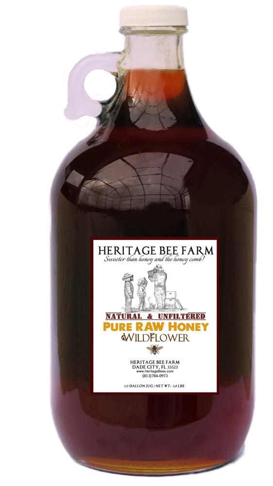 Boost Near Me >> 1/2 Gallon of Pure Wildflower Raw Honey - Glass Jug