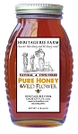 1lb. Wildflower Honey in Glass skep jar