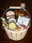 Grand Honey and Hive Gift Basket - Raw honey and infused nut honey, handmade soap, beeswax lipbalm and lotionbars, honeycandies