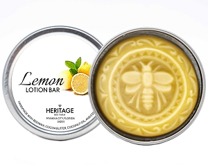 Beeswax and Lemon Lotion Bar