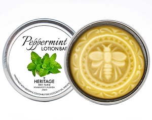 Beeswax and Peppermint Lotion Bar