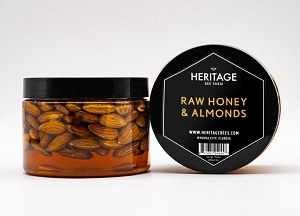 Local Raw Wildflower Honey with Almonds