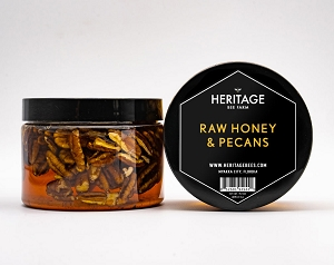 Local Raw Wildflower Honey with Pecan Halves