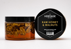 Local Raw Wildflower Honey with Walnuts
