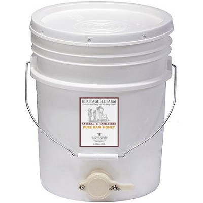 5 Gallon of Raw Honey - Wildflower, Orange Blossom, or Brazilian Pepper Florida Honey