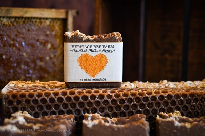 Honey, Milk and Oatmeal Soap - Handmade Soaps Heritage Bee Farm