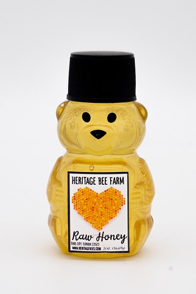 Mini Honey Bear- with raw honey perfect for on the go snacks